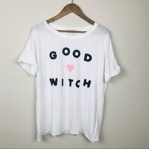 Wildfox Good Witch Graphic Statement Tee